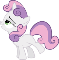 Sweetie Belle Vector by scrimpeh