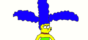 Marge's Hair Goofy by Simpsonsfanatic33