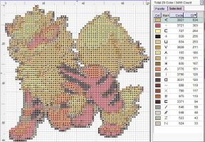 Arcanine Cross Stitch Pattern by puppyrock3