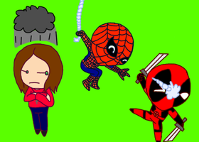 My Husband Deadpool: The Aftermath Chibis. by DominotheFembot