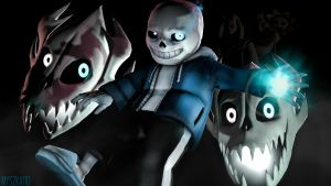 Why would you kill them..? - Sans by myszka11o