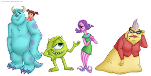 Monsters inc line up by Gothicraft