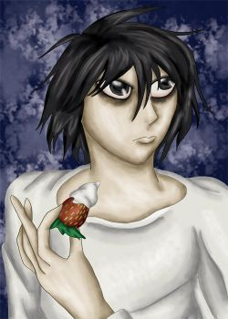 Death Note's L by comicalclare