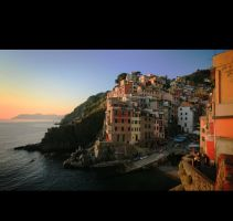 Sunset at Riomaggiore by CatchMe-22