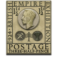 Steampunk Eric Gill Stamp PNG Icon by yereverluvinuncleber