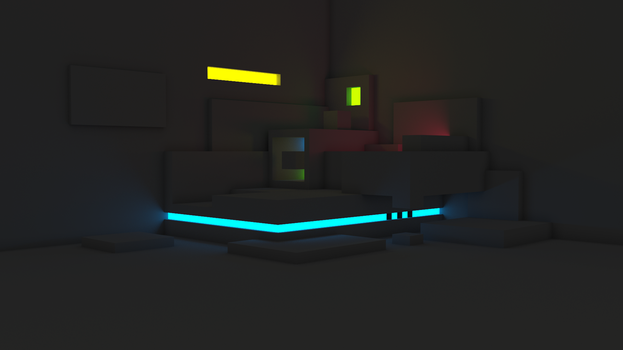 Blender light experiment by f1r3w4rr10r