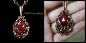Ruby and Copper Pendant II by blackcurrantjewelry
