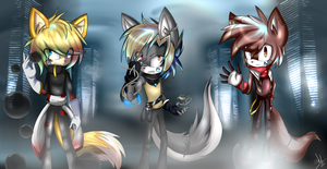 TEAM Elemental infinitie by XcrystalthewolfX