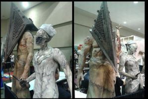 Fan Expo 2014 Pyramid Head And SH Nurse by DanteVergilLoverAR