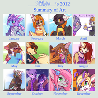 My 2012 Art Summary by strawberryneko33