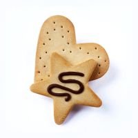 Heart and Star Biscuit Hair Clip by TangerineTaiyaki