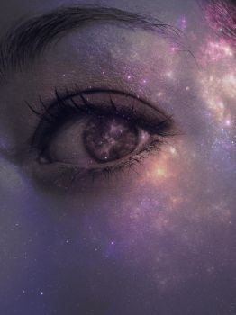 With Nebulas In Her Eyes by willowsongstudios