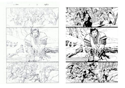 Inking Carlos Pacheco by Alfonso-Pinedo