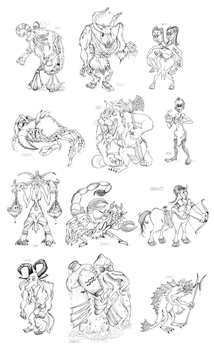 Zodiac Monsters by Granitoons