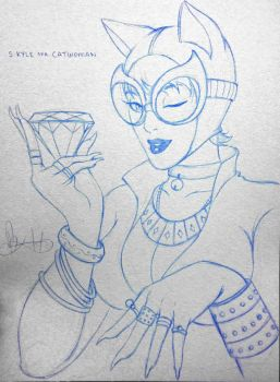 Catwoman- Pencil by mkmatsumoto