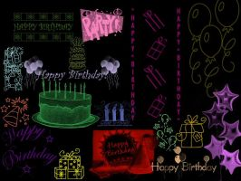 Happy Birthday PS Brushes by Liquid-angelicGrace