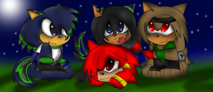 the puppies pals!! ^^ by tinathewolf97
