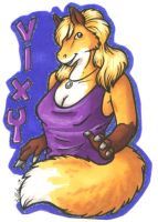 Vixy Badge by hollyann