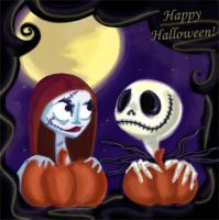 Jack n Sally Happy Halloween by Lilostitchfan