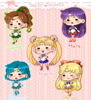 Sailor Scouts Charms by Saby-Cat