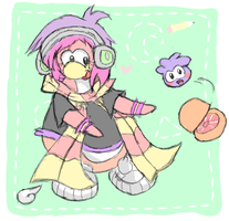 Cadence and the puffle lolz by FloralaCP2