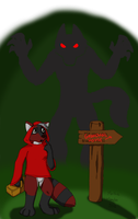 Little Red Riding Raccoon by MorbiusMonster