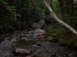Bridge and Creek in NH by Xanamiar