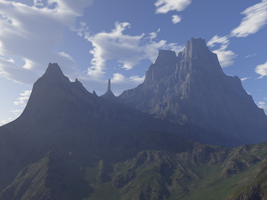 The Mountains WIP by dynomyte