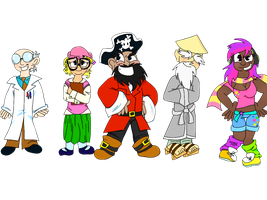 ALL THE CLUB PENGUIN HUMANS by LowlyWorm