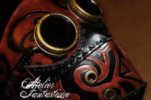 Maori leather mask by AtelierFantastique