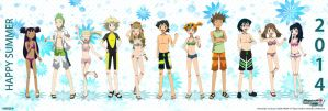 PKMN V - Full Group (SWIMSUIT VERSION) by Blue90
