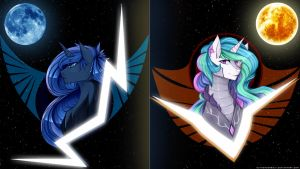 Luna & Celestia Republic Wallpaper by DjThunderbolt