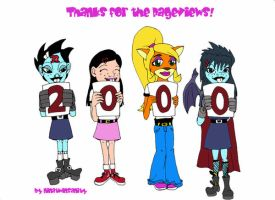 Thanks for the 2000 hits by ninatwinsanity