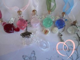 Custom/personalized Alice bottles by ilikeshiniesfakery