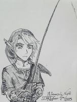 Fishing Break LoZ  (Inktober 7th) by AlexandeNight