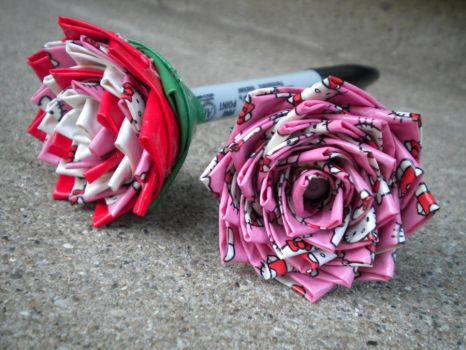 Hello Kitty Duct Tape Sharpies by SharpieObsessed