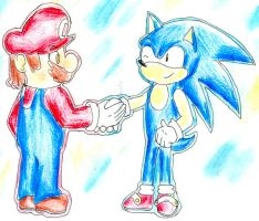 .:Request:. Mario and Sonic by sim-pie