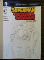 Superman Wonder Woman cover progression by martheus