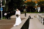 Bride on the Boardwalk by aaroffy