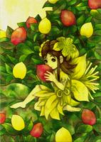 A yellow flower fairy by 6-4-0