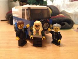 The Lone Gunmen and their Volkswagon van by iamtherealbender