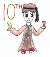 10th Doctor chibi - Party Time by loonylovegood93