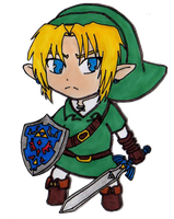 Chibi Link - Ocarina of Time by EasterEgg23