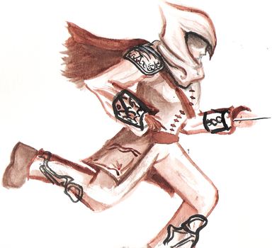 Assassin in Watercolor by Masked-Meow