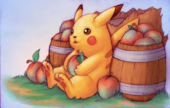 Pikachu's Apples by toshema