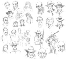 Rough Character sketches by gregjolly