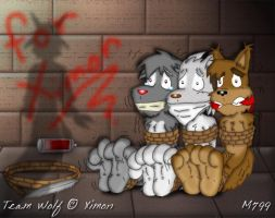 Medium - 3 wolfies in trouble by mamei799tickle