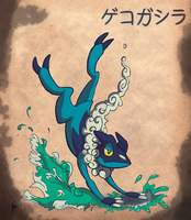 Frogadier by Dark-wings-eagle
