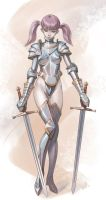 Knight girl (commission) by whiskypaint