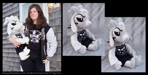 Adult Asriel Dreemurr Plush by QueenBeePlush